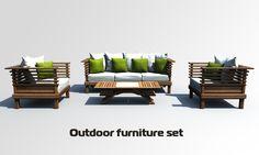 Mobili brotto ~ Arte brotto interior furniture set d model d models cgt