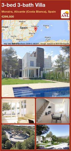 3-bed 3-bath Villa in Moraira, Alicante (Costa Blanca), Spain ►€299,500 #PropertyForSaleInSpain