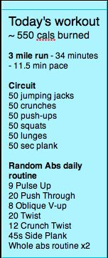 like the running and the circuit part ... the abs? meh... I recommend the Free Ab Workout on android market
