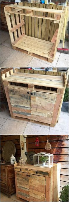 You can stylishly make the use of the wood pallet in the ideal creation of the rocking artistic cabinet piece as well. This whole cabinet design has been eventually added up with the artistic sort of appearance in your house kitchen or lounge ares for sure. Isn't it looking interesting and catchier?