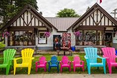 There are many shops and restaurants in Wasagaming in Riding Mountain National Park, Manitoba, Canada. Clear Lake Manitoba, Riding Mountain National Park, Outdoor Furniture Sets, Outdoor Decor, Canada Travel, Cabin, House Styles, Places, Restaurants
