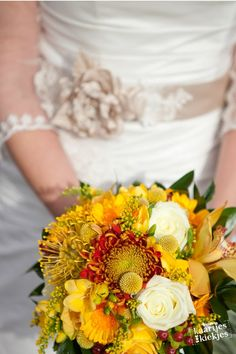 My bridal flowers in autumn theme