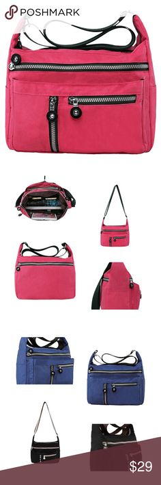"""Nylon Shoulder Bags Crossbody Messenger Bags HIGH QUALITY WATER-RESISTANT NYLON SHOULDER BAGS 