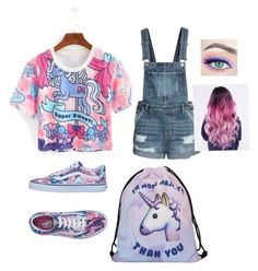 """""""Unicorn Style by Eva M"""" by evamariammm on Polyvore featuring WithChic and Vans"""