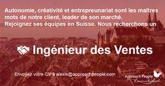 #CDI à saisir pour un Ingénieur des Ventes en #Suisse ! http://www.approachpeople.com/international/job-description/?id_job=14445 #jobs #emploi #recrutement #luxe #horlogerie