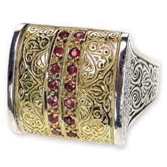 Anthemion Ring with Pave Stones. See more at www.athenas-treasures.com