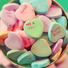 Candy Hearts Photo, Still Life Photography, Valentine's Day Photograph, Romantic…
