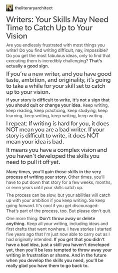 """Keep going! Don't give up>>Really needed to know this. Hope this helps with … >Really needed to know this. Hope this helps with …""""> Keep going! Don't give up>>Really needed to know this. Hope this helps with others out there Creative Writing Tips, Book Writing Tips, Writing Words, Writing Quotes, Writing Resources, Writing Help, Writing Skills, Writing Ideas, Writing Motivation"""