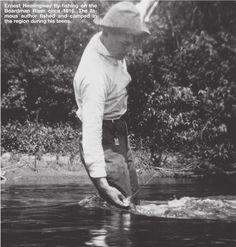 Ernest Hemingway fly-fishing. Damn.