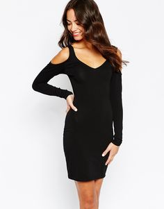 New+Look+Cold+Shoulder+Bodycon+Dress