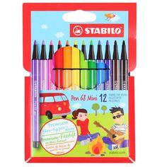 Foto 1 - Caneta Stabilo Pen Mini 68/668-12 Estojo C/12 Cores Stabilo Pen 68, Stabilo Boss, Stationary Store, Stationary School, School Suplies, School's Out For Summer, Cute School Supplies, Monster Dolls, Writing Art