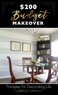 Give your dining room a makeover on a budget. DIY and Thrifted Glam Dining Room Diy Home Decor On A Budget, Decorating On A Budget, Living Room Decor, Dining Room, Home Decor Inspiration, Decor Ideas, Diy Ideas, Room Ideas, Design Inspiration