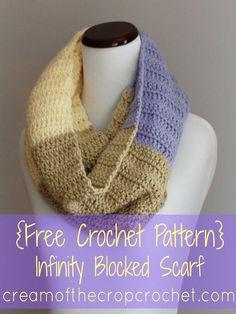 Infinity Blocked Scarf Pattern - Crochet Tutorial