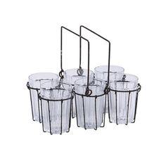 7-Pc. Pack Glass Rack