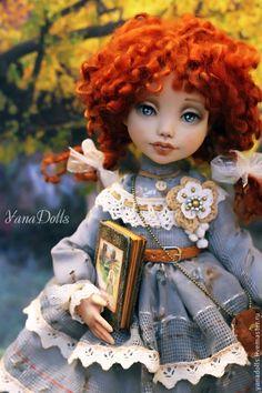 Дженни - рыжий,кукла ручной работы,рыжая девочка,рыжая кукла,кукла,кукла интерьерная