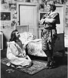 """Peter and Wendy"" photographed by Hall (Maude Adams and Mildred Morris) via ""Peter Pan on Stage and Screen, 1904-2010, 2d ed. Bruce K. Hanson  - July 14, 2011 McFarland - Publisher"""