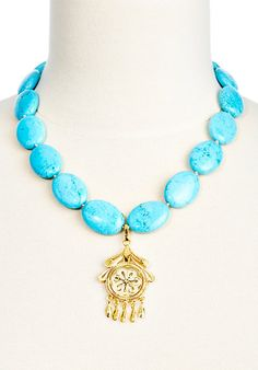 Turquoise Necklace w/Flower | Trend Spotting | One Kings Lane