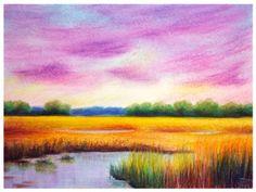 Pastel, Laura Mateescu, www. Pastel, Painting, Art, Simple Lines, Cake, Painting Art, Paintings, Kunst, Paint