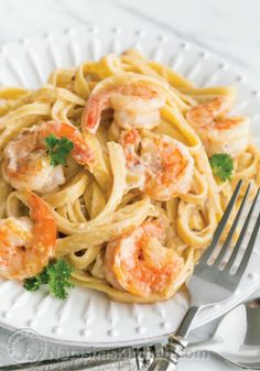 Add some shrimp to an Alfredo dinner for a tasty crunch!