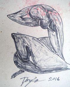 Original signed Kevin F Doyle Modern US nude woman figurative Monhegan Morning #Impressionism
