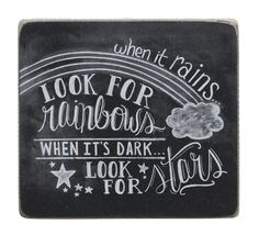 Item # 23972 | Chalk Sign - Rainbows | Primitives by Kathy
