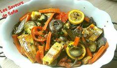 Dos de Cabillaud sur son lit de légumes  Recette sur Facebook  Les Saveurs de Safia