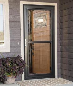 LARSON Tradewinds White Full View Aluminum Storm Door With Retractable  Screen (Common: 36