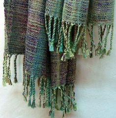 Handwoven Green Shawl /  Wrap /  Scarf OOAK by PenelopeNow on Etsy, $190.00