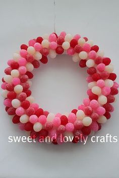gumdrop wreath #holiday #decoration #decor #decorating #wreath #gum_drop #candy #valentines #christmas #xmas #birthday #party