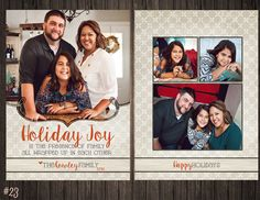 Holiday Joy 2 Sided Photo Holiday/Christmas by SweetTeaSpecialties