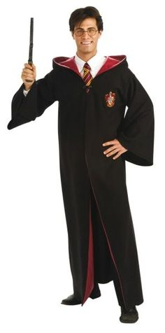 Arguably the best Harry Potter fancy dress costume out there, this deluxe version of Harry Potter costume includes a deluxe 2 toned Harry Potter robe Lunette Harry Potter, Harry Potter Kostüm, Harry Potter Cosplay, Harry Potter Deathly Hallows, Wizard Costume, Wizard Robes, Costume Shop, Harry Potter Halloween, Fantasia Do Harry Potter