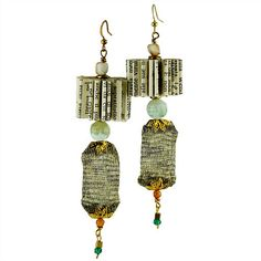 Beautiful Handmade Folded Book Earrings and Pendants by CRIZU