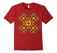 t-shirt with embroidery pattern, ancient ethnic ornament, geometric ornament, Slavic ornaments, folk art, Slavic symbol, Ukrainian embroidery