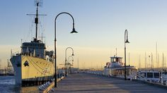 Long pier in the harbor of Williamstown city and williamstown cruise 2 hours $29 wotif
