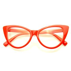 Super Cat Eye Glasses Vintage Inspired Fashion Mod Clear Lens Eyewear