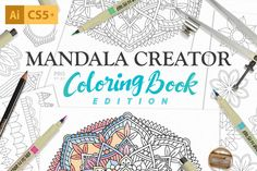 Coloring Book Mandala Creator by everdrifter on @creativemarket