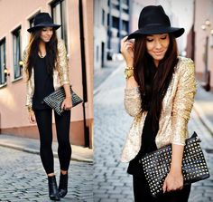 All that glitters is gold! Rockin' a sequin blazer look!