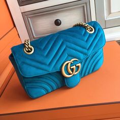 cbe2671fb318 Gucci GG Large Marmont velvet shoulder bag Blue - Bella Vita Moda #gucci  #gucci bag #guccivelvetbag #guccilover #gucciaddict#fashionista @ ...