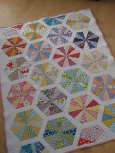 Made With Half Rectangle Triangles--Two Rectangles Are  Sewn Together Corner To Corner--Same As Half Square Triangles Except The End Result Is A Kite Shaped Piece