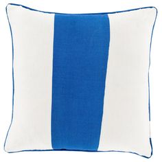 Decorative Langton 20-inch Poly or Down Filled Pillow (Polyester - Blue), Size 20 x 20 (Cotton, Color Block)