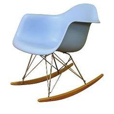 Plastic Rocking Chair Blue - Baxton Studio