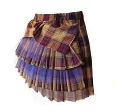 recycled patchwork skirt