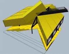 Una espectacular estructura hecha a base de contenedores. Proyecto de Arte…