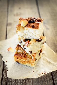 Apple & Caramel Focaccia by Claire Sutton, via Flickr.  Probably a dessert, but focaccia = bread, right?  Hubby would devour this