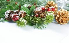 Indir duvar kağıdı Noel ağacı, koniler, Yeni Yıl, 2018, kar