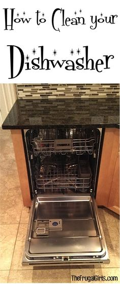 Even though your dishwasher is used for cleaning… it has a way of building up residue from dishsoap, grime, and developing streaks on the interior door. So… here's a simple trick that works like a cha