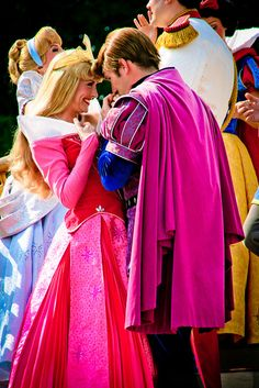 Aurora and Prince Phillip... Oh my heart melting....
