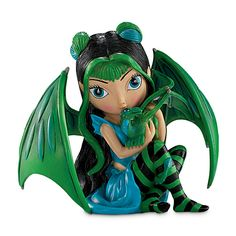 The Hamilton Collection Jasmine Becket-Griffith Fairy and Baby Dragon Figurine: Aqua Dragon Figurines, Fairy Figurines, Collectible Figurines, Dracula, Animals Are Beautiful People, Fairies Photos, Fairy Clothes, Fairy Jewelry, Butterfly Fairy