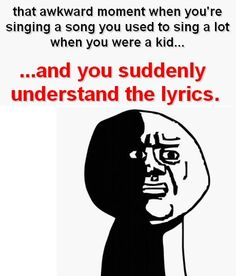 YES. So many Carman songs where I'm singing them and realizing what they say as I do so (at least they're good songs).