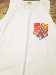 Monogram Pocket Tank via Etsy